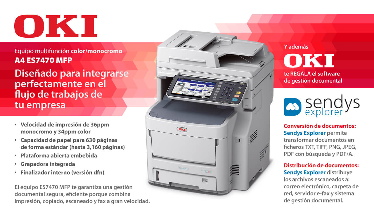 Oki Multifunci 243 N L 225 Ser Color Es7470 Mfp